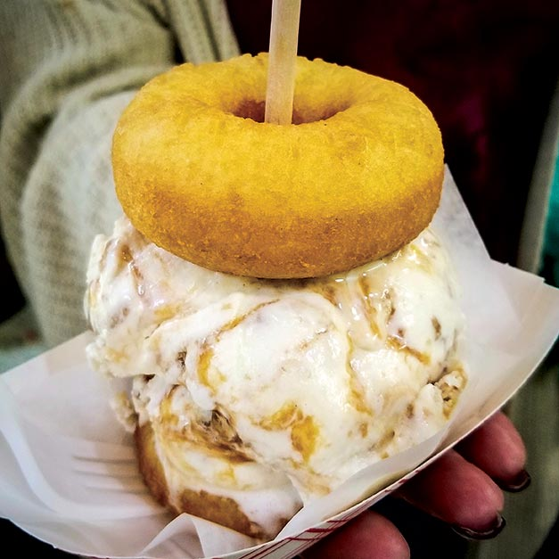 Donut sundae at donutz on a stick