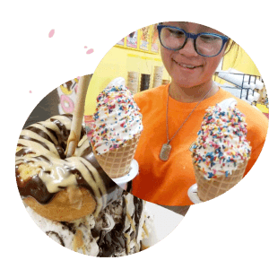 Donutz on a stick ice cream and donuts